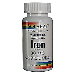 Solaray Iron Super Bio-Plex TS Timed Release