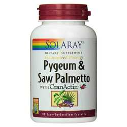 Solaray Pygeum  Saw Palmetto wCranActin