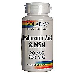Solaray Hyaluronic Acid + MSM