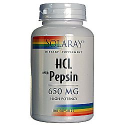 Solaray HCl wPepsin High Potency