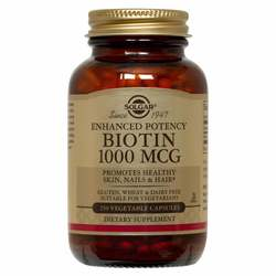 Solgar Enhanced Potency Biotin 1000 MCG