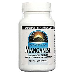 Source Naturals Manganese Chelate 15 mg Elemental