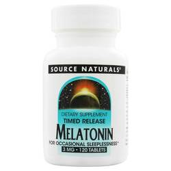 Source Naturals Melatonin 3mg Timed-Release