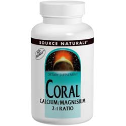 Source Naturals Coral Calcium  Magnesium 2:1 Ratio
