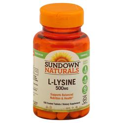 Sundown Naturals L-Lysine