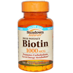 Sundown Naturals High Potency Biotin