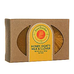 Sunfeather Honey, Goat's Milk and Clover Soap