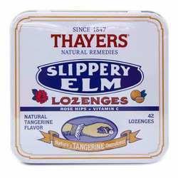 Thayers Slippery Elm Lozenges Natural Tangerine Flavor