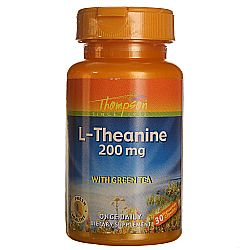 Thompson L-Theanine Maxicaps with Green Tea 200 mg