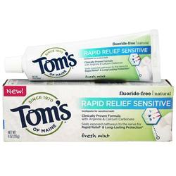 Tom's of Maine Natural Rapid Relief Sensitive Fluoride-Free Toothpaste