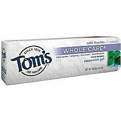 Tom's of Maine Whole Care Fluoride Toothpaste Gel