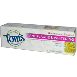 Tom's of Maine Natural Antiplaque  Whitening Toothpaste Fennel