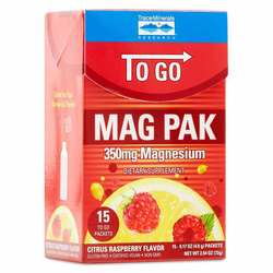 Trace Minerals Research Mag Pak To Go Citrus Raspberry 350 mg.