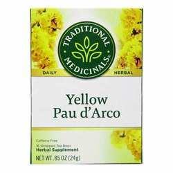 Traditional Medicinals Yellow Pau d' Arco Caffeine Free Herbal Tea