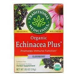 Traditional Medicinals Organic Echinacea Plus Elderberry Tea Caffeine Free