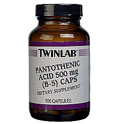 Twinlab Pantothenic Acid 500mg