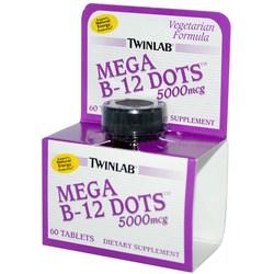Twinlab Mega B-12 Dots 5000 mcg