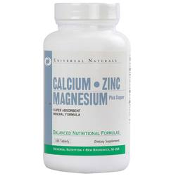 Universal Nutrition Calcium Zinc and Magnesium Plus Copper