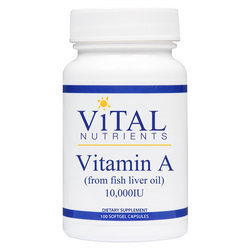Vital Nutrients Vitamin A 10-000 IU (from fish liver oil)