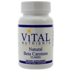 Vital Nutrients Beta Carotene Natural 25-000 IU