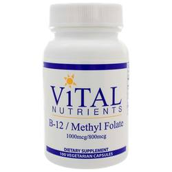 Vital Nutrients B12Folate 1000mcg800mcg
