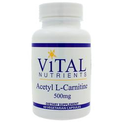 Vital Nutrients Acetyl L-Carnitine 500 mg