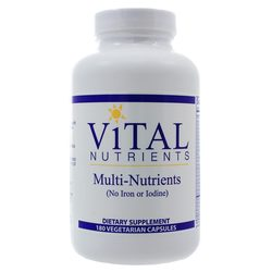 Vital Nutrients Multi-Nutrients no Iron or Iodine