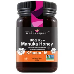 Wedderspoon Organic 100- Raw Manuka Honey KFactor 16