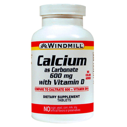 Windmill Health Products Calcium 600 mg with Vitamin D3