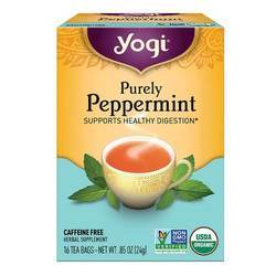 Yogi Tea Organic Teas Purely Peppermint Caffeine Free