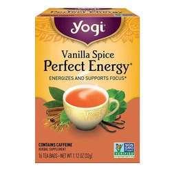 Yogi Tea Organic Teas Vanilla Spice Perfect Energy Tea