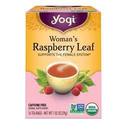 Yogi Tea Organic Teas Woman's Raspberry Leaf Caffeine Free Tea