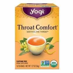 Yogi Tea Organic Teas Throat Comfort Caffeine Free Tea