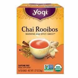 Yogi Tea Organic Teas Chai Rooibos Tea Caffeine Free