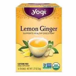 Yogi Tea Organic Teas Lemon Ginger Tea Caffeine Free