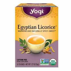 Yogi Tea Organic Teas Egyptian Licorice Tea Caffeine Free