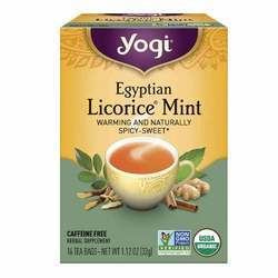 Yogi Tea Organic Teas Egyptian Licorice Mint Tea Caffeine Free
