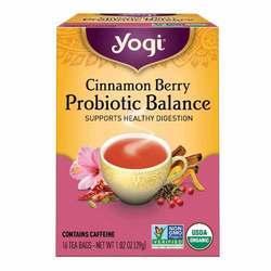 Yogi Tea Organic Teas Cinnamon Berry Probiotic Balance
