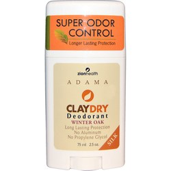 Zion Health Clay Dry Silk Deodorant