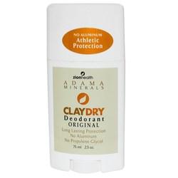 Zion Health Adama Minerals Clay Dry Deodorant