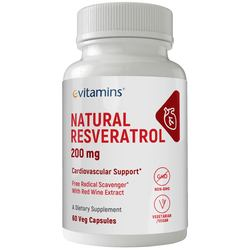 eVitamins Natural Resveratrol 200 mg
